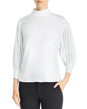 kate spade new york - Dolman Sleeve Micro-Pleat Top