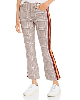 MOTHER - The Insider Plaid Ankle Flare Jeans