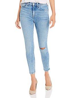 rag & bone - Nina High-Rise Ankle Skinny Jeans in Wells With Holes