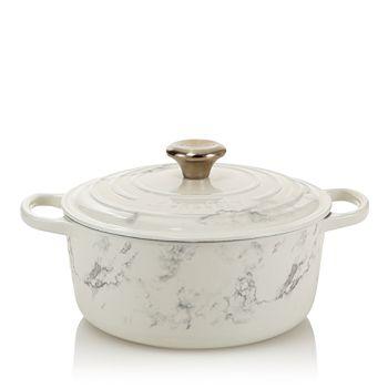Le Creuset - 4.5 Qt. Marble Appliqué Round Dutch Oven - 100% Exclusive