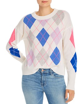 AQUA - Argyle Cashmere Sweater - 100% Exclusive