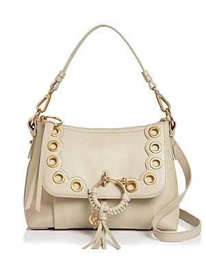 See By ChloÉ See By Chloe Joan Small Shoulder Bag In Cement Beige/gold