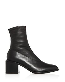 Clergerie - Women's Xia Pointed-Toe Block-Heel Booties