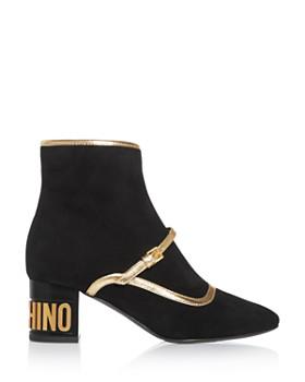 Moschino - Women's Square-Toe Booties