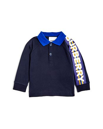 Burberry - Boys' Mini Duncan Long-Sleeve Polo Shirt - Baby