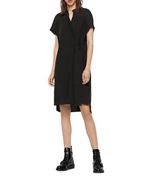 ALLSAINTS - Willow Tie-Waist Shirt Dress