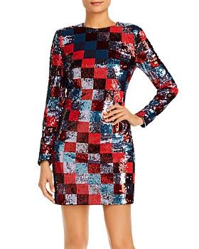 Escada Sport - Deighty Checkered Sequin Mini Dress