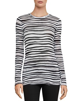 BCBGMAXAZRIA - Watercolor-Stripe Top