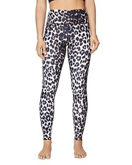 Betsey Johnson - High-Rise Leopard Print Ankle Leggings
