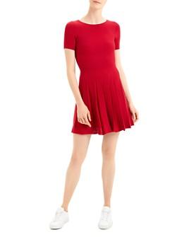Theory - Short-Sleeve Peated Tee Dress
