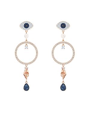 Swarovski Symbolic Evil Eye Drop Earrings