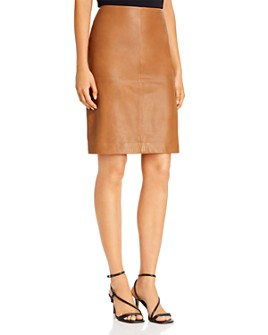 Donna Karan - Leather Pencil Skirt