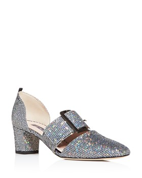 SJP by Sarah Jessica Parker - Women's Anahita Glitter Square-Toe Pumps