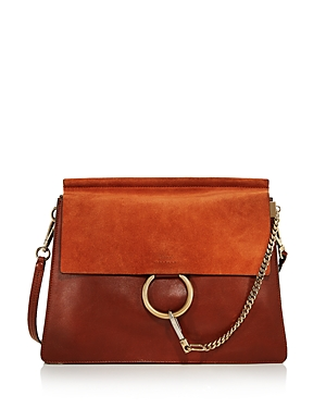 Chloe Faye Medium Color-Block Shoulder Bag