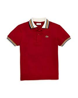 Lacoste - Boys' Striped-Collar Polo Shirt - Little Kid, Big Kid