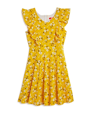 Aqua Girls' Floral Print Ruffled Dress, Big Kid - 100% Exclusive
