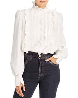 See by Chloé - Ruffled Pintuck Pullover Blouse