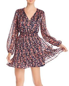 AQUA - Ruffled Floral Paisley Dress - 100% Exclusive
