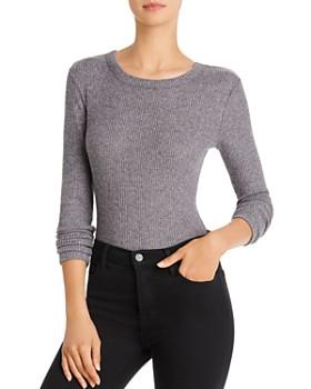 AQUA - Brushed Rib-Knit Bodysuit - 100% Exclusive