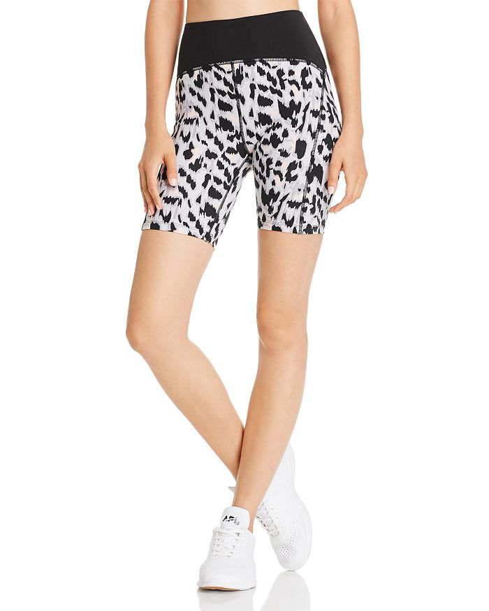 Varley - Northfield Cheetah Print Bike Shorts