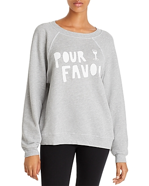 Wildfox T-shirts SOMMERS POUR FAVOR SWEATSHIRT