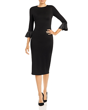 Alice and Olivia Delora Bell-Sleeve Bodycon Dress-Women