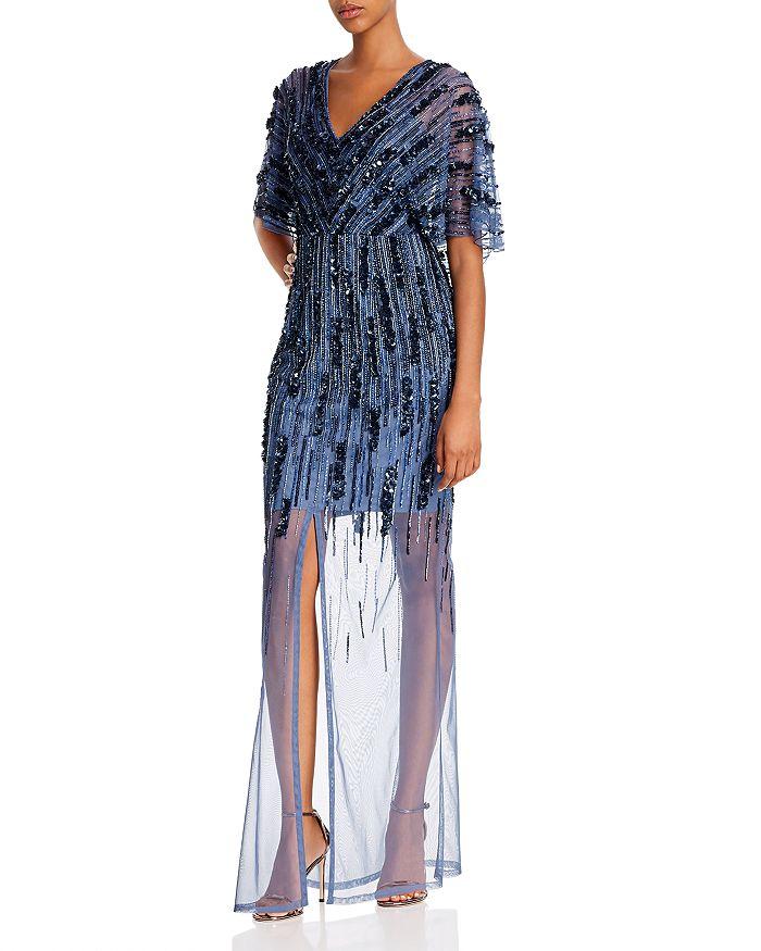 Aidan Mattox - Embellished Illusion Gown