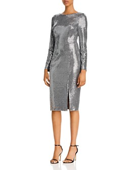 Eliza J - Sequin Long-Sleeved Sheath Dress