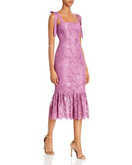 Rachel Zoe - Jessica Fluted Floral Lace Midi Dress - 100% Exclusive