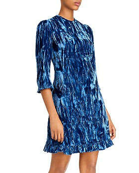 Shoshanna - Rula Textured Velvet Mini Dress
