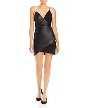Alice and Olivia - Faux Wrap Mini Dress
