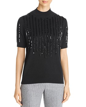 Lafayette 148 New York - Cashmere Sequin-Embellished Sweater