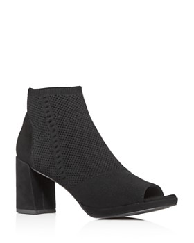 Eileen Fisher - Women's Margate Stretch Open-Toe Booties