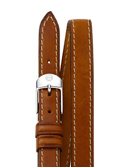 MICHELE - Double Leather Strap, 12mm