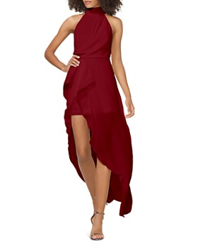 HALSTON - Draped Georgette Gown - 100% Exclusive
