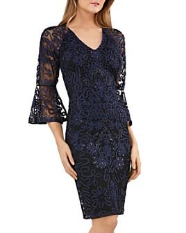 JS Collections - Soutache Bell Sleeve Cocktail Dress