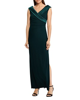 Ralph Lauren - Satin Portrait-Collar Gown