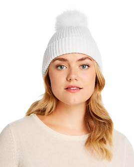 Raffaello Bettini - Fox Fur Pom-Pom Ribbed Cashmere Beanie