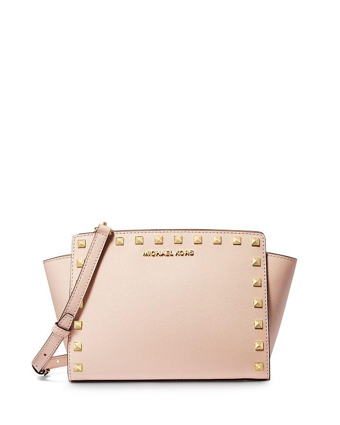 Pale Pink Studded Selma Michael Kors w wallet
