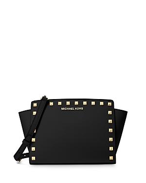 Michael Michael Kors Selma Medium Studded Messenger Bag-Handbags