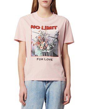 Sandro - Gerda No Limit For Love & Floral Graphic Tee