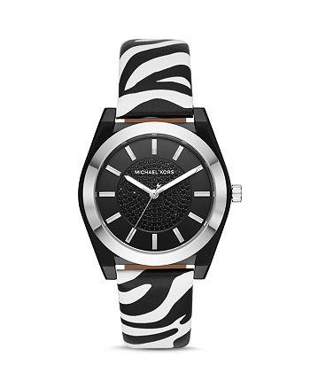 Michael Kors - Channing Animal-Print Leather Strap Watch, 40mm