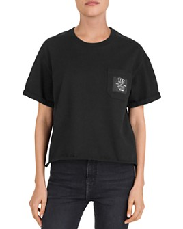 The Kooples - Logo Patch & Lettering Pocket Tee