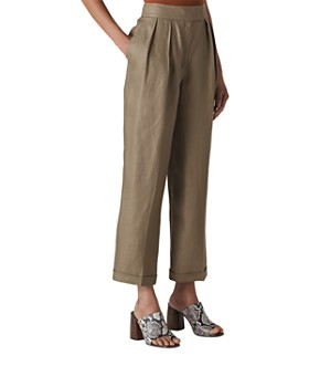 Whistles - Lydia Linen Pleated Pants