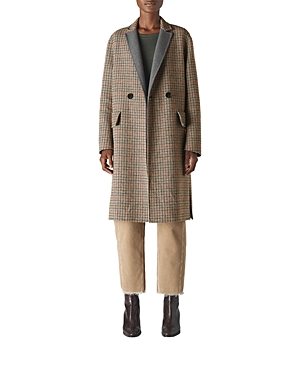 Whistles Checkered Double-Breasted Coat