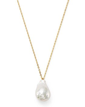 """Bloomingdale's - Baroque Pearl Pendant Necklace in 14K Yellow Gold, 22"""" - 100% Exclusive"""