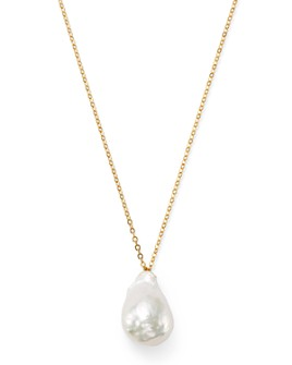 "Bloomingdale's - Baroque Pearl Pendant Necklace in 14K Yellow Gold, 22"" - 100% Exclusive"