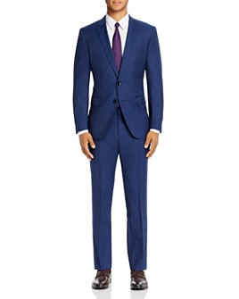 BOSS - Huge/Genius Prince of Wales Plaid Slim Fit Suit