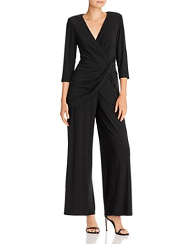 Adrianna Papell - Wide-Leg Draped Jersey Jumpsuit