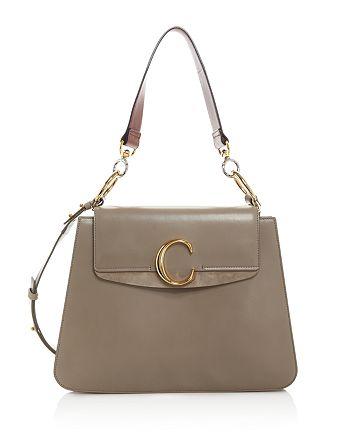 Chloé - C Medium Leather Shoulder Bag